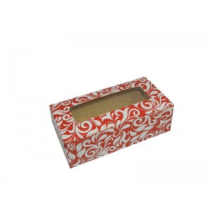 "Fruitcake Box Small - Floral  (3.5""x6.25""x2.5"", Pack of 100s)"