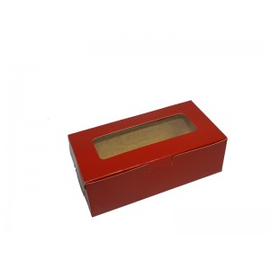 "Fruitcake Box Small - Red (3.5""x6.25""x2.5"", Pack of 100s)"