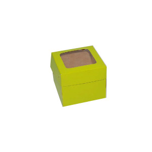 "Cupcake Box by 1s - Green (3.25""x3.25""x2.75"", pack of 100s)"