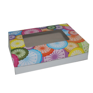 "Cupcake Box by 12s - Circles (9""x12""x3"", pack of 100s)"