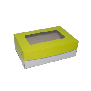 "Cupcake Box by 6s - Green (6""x9""x3"", pack of 100s)"