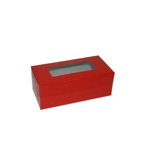 "Fruitcake Box Medium - Red (3.5""x7.25""x2.75"", Pack of 100s)"