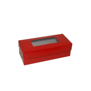 "Fruitcake Box Large - Red (3.5""x8.25""x2.5"", Pack of 100s)"