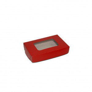 "Pastry Box  - Red (3.5""x5.5""x1"", pack of 100s)"